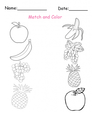 Color the fruits and vegetables worksheet twisty noodle - Fruits Worksheets Submited Images