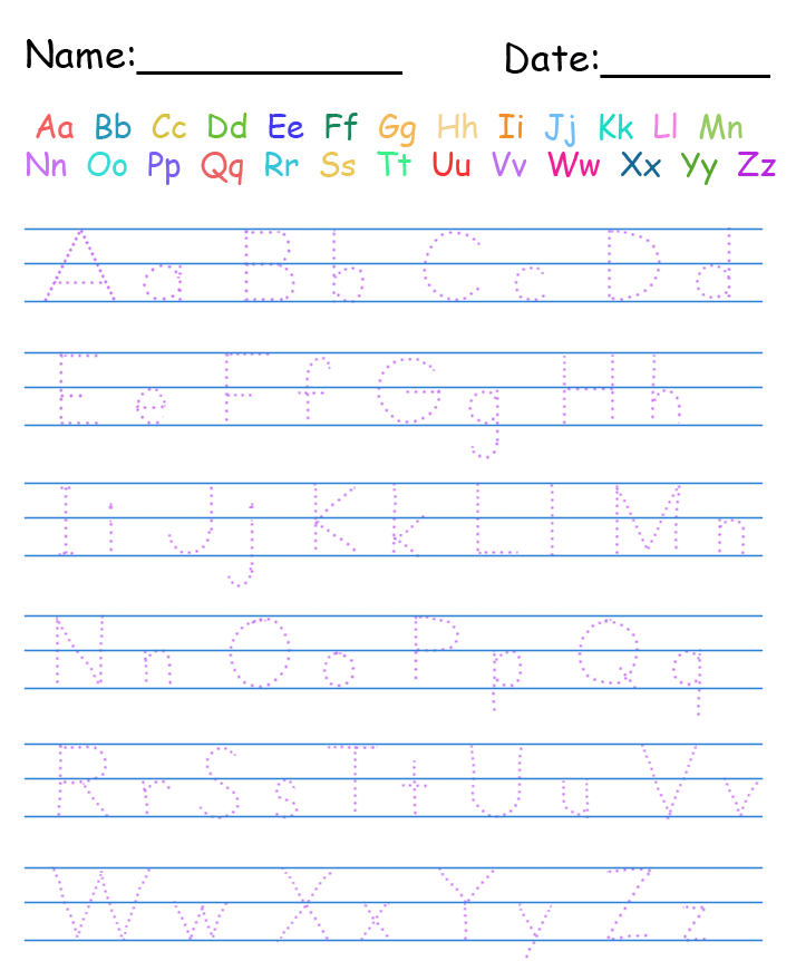 Trace Handwriting Worksheet